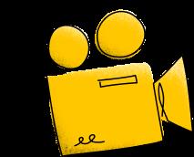 Illustration of a video camera.