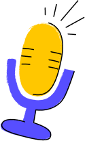 Illustration of a microphone.